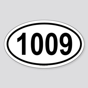 1009 Oval Sticker